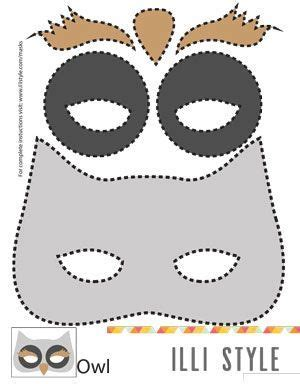 printable animal eye masks felt animal mask printable templates owl mask masking