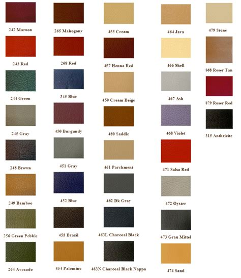 mercedes colors mercedes touch up paint color codes color chart