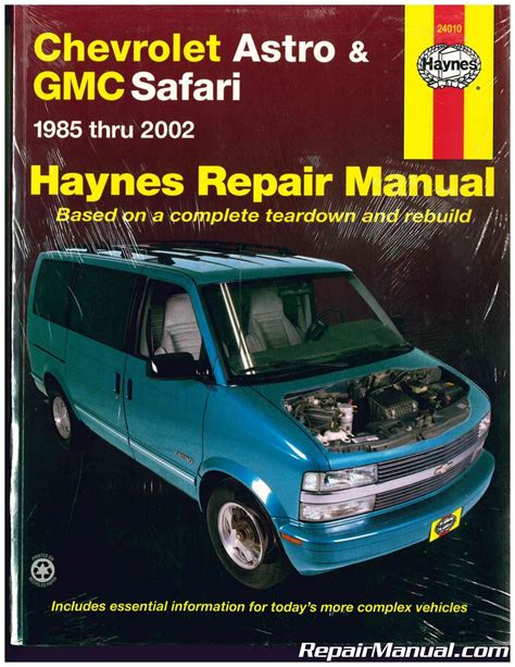 car owners manuals free downloads 1992 chevrolet astro interior lighting haynes chevrolet astro gmc safari mini vans 1985 2002 auto repair manual