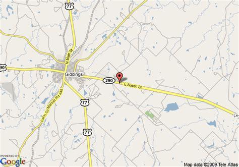 giddings texas map map of ramada giddings giddings