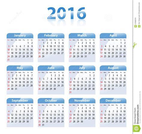 english calendar 2016 design stock vector image 61777684 english blue glossy calendar for 2016 stock vector image