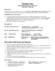 Cnc Lathe Operator Sle Resume by Machinist Resume Sle Report Cover Page Format Buildaresume Free Templates For Word