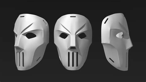printable casey jones mask printable casey jones mask 3d model