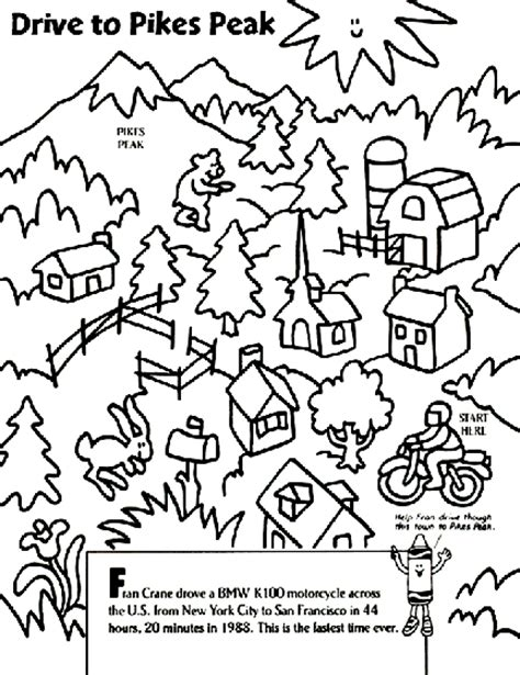 coloring book zip drive drive to pikes peak coloring page crayola