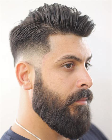 men taper on the sides with beard high fade hairstyles with beard hairstylegalleries com