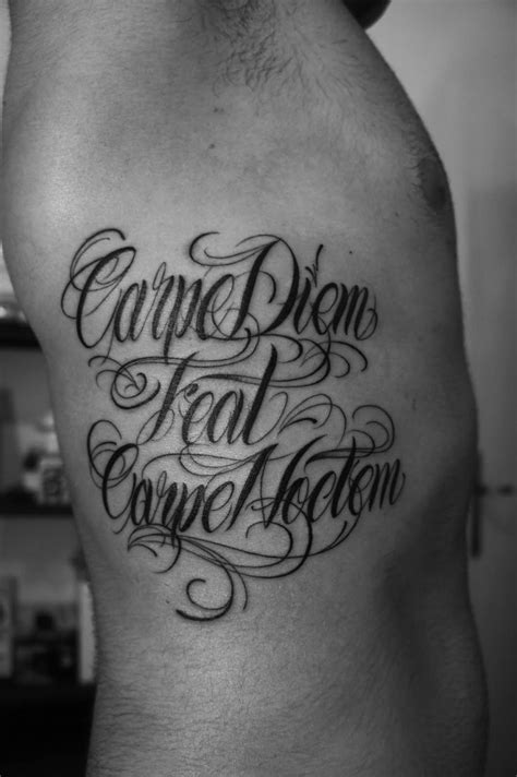 carpe diem tattoos for men fran carpe diem feat carpe noctem tattoos