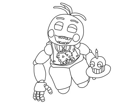 toy kitchen coloring page print draw nightmare freddy fazbear five nights at freddys