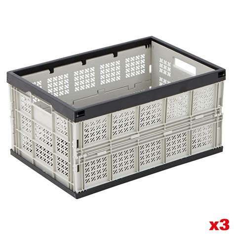 foldable crate folding storage crates stackable boxes foldable stack collapsible crates bigdug ebay