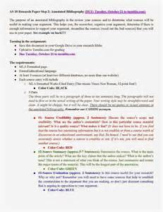 Working Outline For Research Paper Apa by Due Working Annotated Bibliography For Research Paper 10