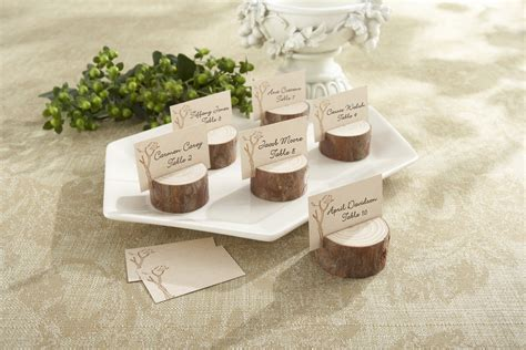 wood place card holders wedding rustic wedding favors by kate aspen rustic wedding chic