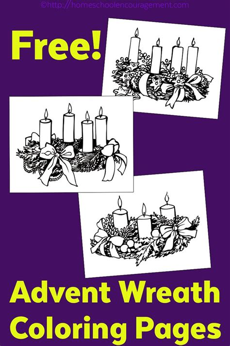 Advent Wreath Coloring Page S Set Of Three Wreaths To Advent Wreath Colouring Page