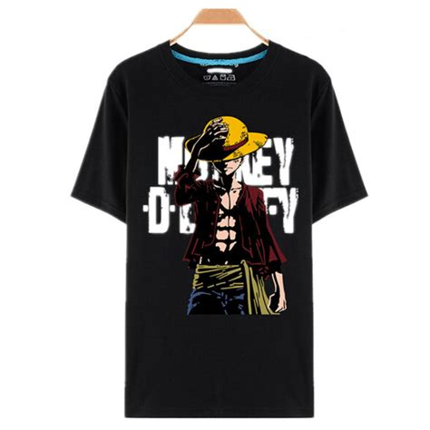 Kaos Anime Series Luffy 01 aliexpress buy one t shirt luffy straw hat