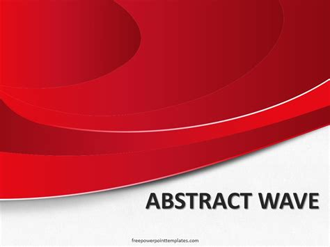 abstract powerpoint templates free free abstract wave powerpoint template