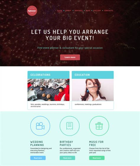 templates for events website 22 event website themes templates free premium