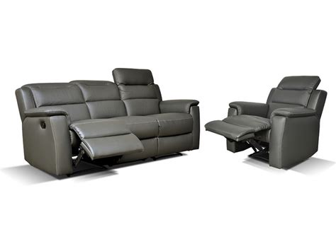 canape sofia canap 233 et fauteuil relax cuir sofia anthracite