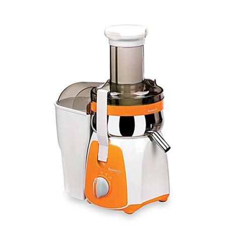 juicers at bed bath and beyond buy kuvings 174 centrifugal juicer in white orange from bed