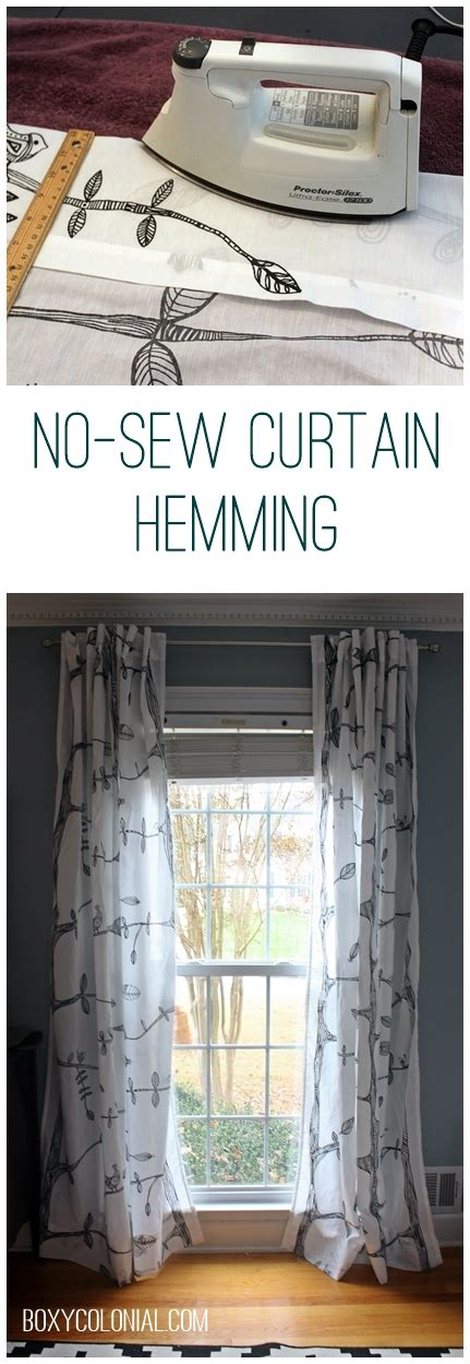 how to shorten curtains without sewing hemming curtains without sewing and other small things