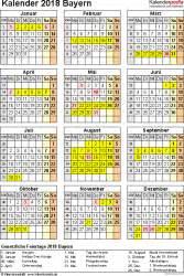 Kalender 2018 Ferien In Bayern Kalender 2018 Bayern Ferien Feiertage Pdf Vorlagen