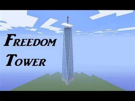 How To Make A Tower With One Of Paper - minecraft freedom tower tutorial