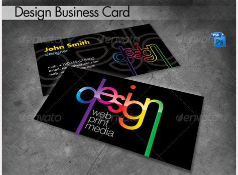 graphic design business card layout 68 business cards for designers free premium templates