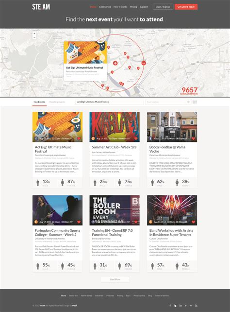 One Pager For City Event Templates Free Psd Templates Free Psd Website Templates Website