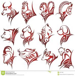 chinese zodiac signs stock vector image 46314485