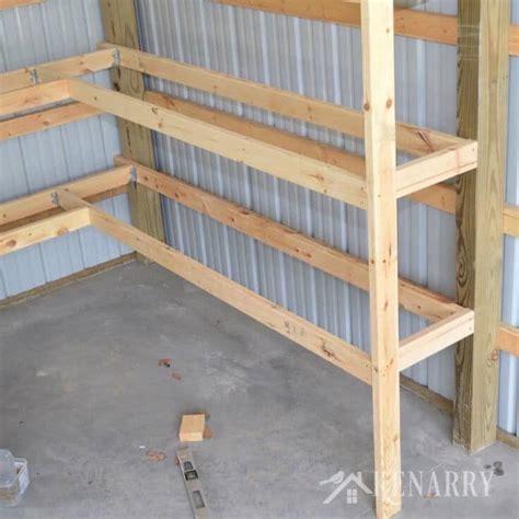 diy shelves garage diy corner shelves for garage or pole barn storage