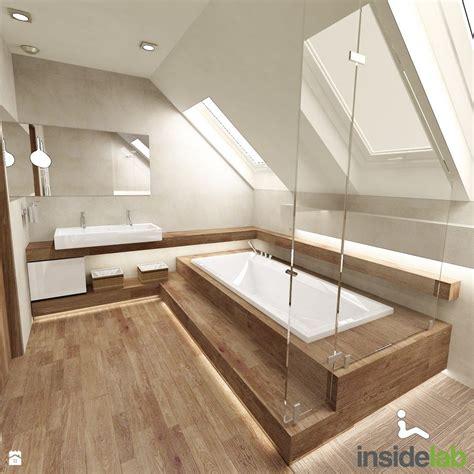 badezimmer ideen holzfliesen badezimmer mit dachschr 228 ge komplett mit fliesen in