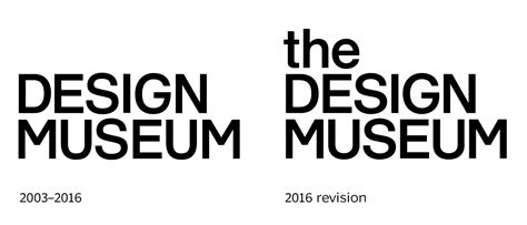 Design Museum London Logo Font | design museum identity 2003 2016 fonts in use