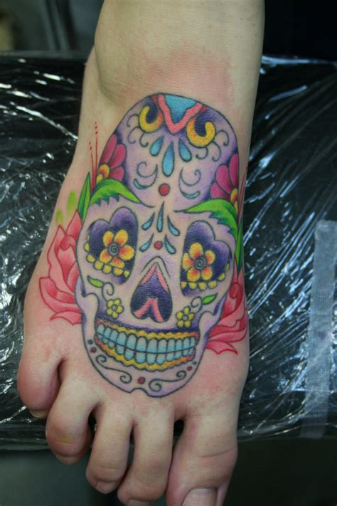 mexican skull tattoo designs tatto mexican sugar skull on foot
