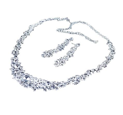 Rhinestone Necklace Earring joylive rhinestone necklaces earring