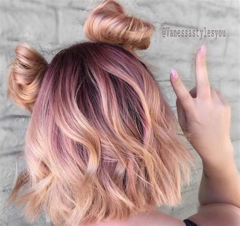 pink highlight on the end tween 65 rose gold hair color ideas for 2017 rose gold hair
