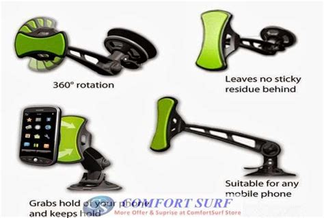 Handphone Anti Grafity Holder gripgo car universal holder mount phone gps adjustable 360 holder