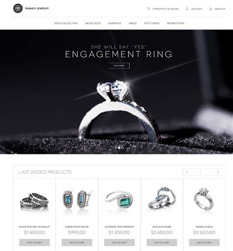 css templates for jewellery website 10 beautiful free html css jewelry website templates