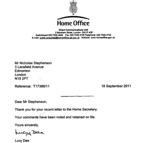 Character Reference Letter Home Office Correspondence 1 The Official Illuminati