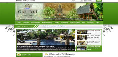 tutorial desain web php desain web tutorial contoh desain web perhotelan dengan