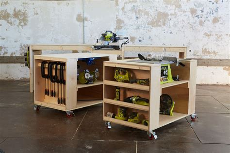 storage work bench ana white ultimate roll away workbench system for ryobi blogger build off diy projects
