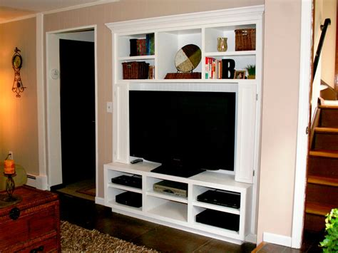 flat screen tv in a closet turn a closet into a built in entertainment center hgtv