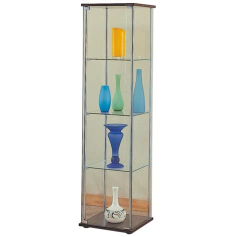 Curio Cabinet Shelf Supports Coaster Curio Cabinets 4 Shelf Glass Curio Cabinet With