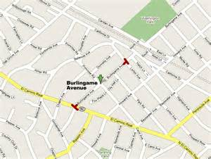 burlingame avenue shopping map shopping guide san