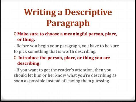 descriptive essay exle sle of descriptive essay about a place 28 images sle