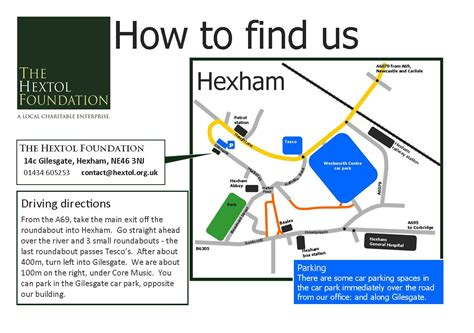 Find Us How To Find Us The Hextol Foundation
