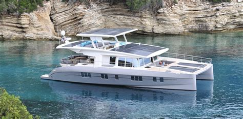 catamaran electric motor a new solar and battery powered catamaran with a virtually