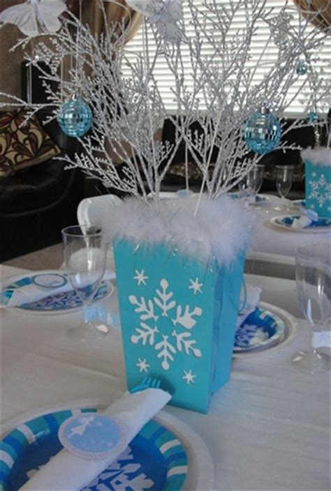 winter themed table decorations 5 cool ideas for an quot frozen quot theme