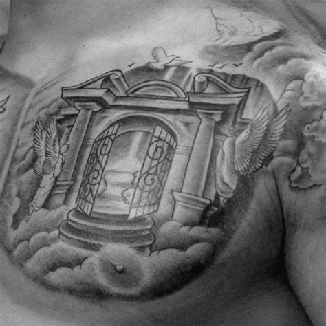 gates of heaven tattoo 50 heaven tattoos for higher place design ideas