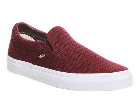 Nike Slip On Maroon vans classic slip on shoes maroon crochet unisex sports