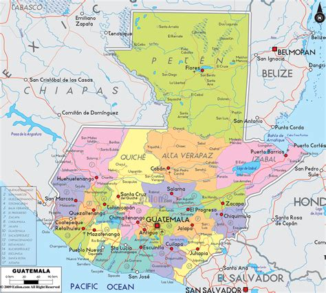 where is guatemala on the map detailed political map of guatemala ezilon maps