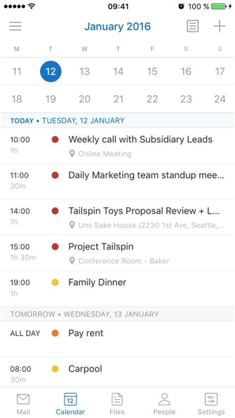 Calendar Update From Outlook Skype Call Scheduling And More Updates For Outlook For Ios