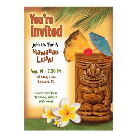 hawaiian birthday card template tropical tiki luau invitation template luau