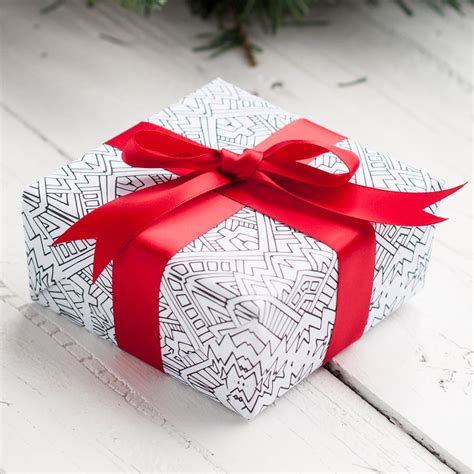 coloring page gift wrap diy christmas wrapping paper 8 printable gift wrap